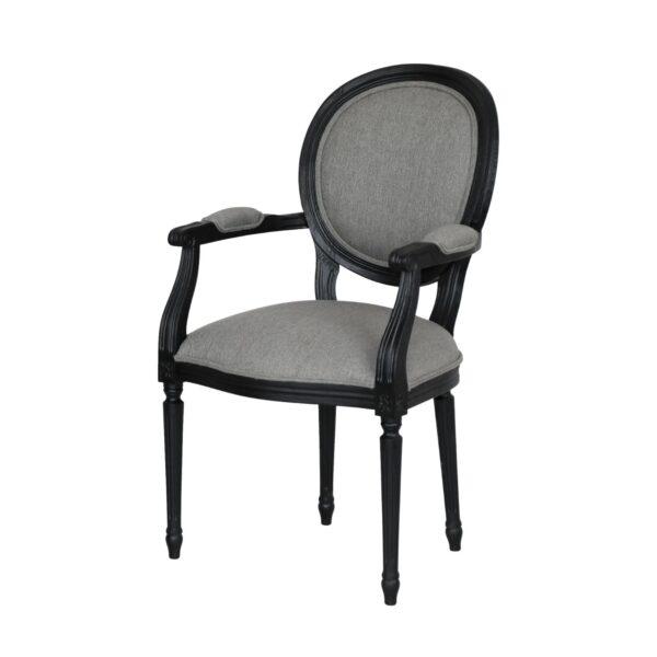 Klasyczne Krzesło Medalion Ludwik XVI z podlokietnikami 1102/F