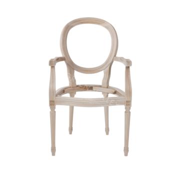 1102/F stelaż drewniany krzesła z podłokietnikami ludwik xvi