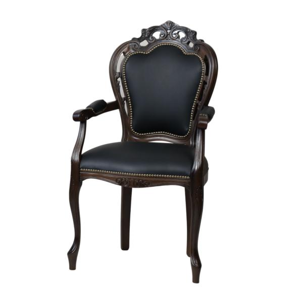 Klasyczne krzesło Traforata z podłokietnikami
