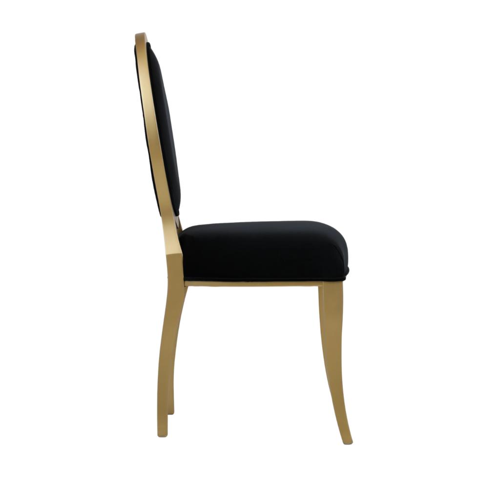 Krzesło Molly - Krzesło z owalnym oparciem