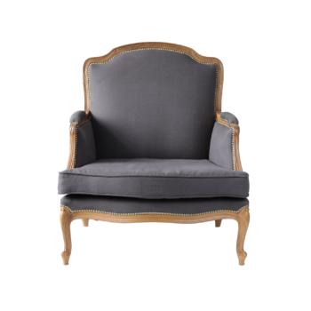 Stylowy fotel z podnóżkiem