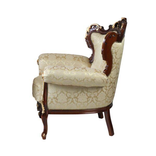 Klasyczny rzeźbiony fotel cleopatra