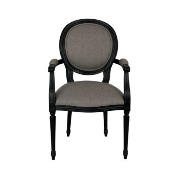 Krzesło z Podłokietnikami w stylu Ludwika XVI