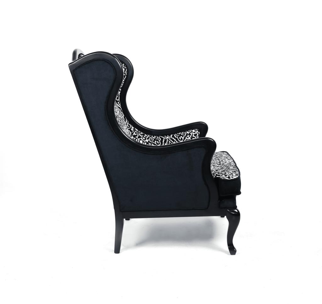 stylowy fotel, fotel uszak, fotel ludwik